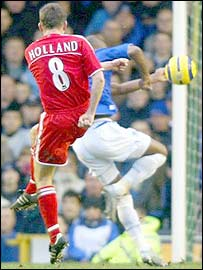 Matt Holland lashes in Charlon's goal