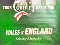 Wales v England poster