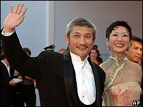 Chinese film director Tsui Hark and wife Nansun in Venice