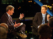 Jeremy Paxman interviewing UK PM Tony Blair in 2003