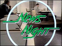 The first Newsnight goes to air