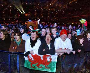 Crowd at the Millennium Stadium for the Tsunami Relief Concert