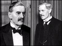 Neville Chamberlain and Ramsay Macdonald