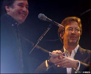 Jools Holland and Eric Clapton finished the show with Shake, Rattle and Roll