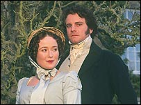 Jennifer Ehle and Colin Firth in the BBC's Pride and Prejudice