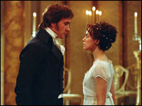 Matthew Macfadyen and Keira Knightley in Pride and Prejudice