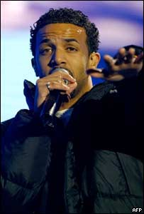 R&B star Craig David went down well with the crowds at the stadium.