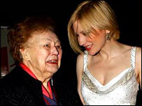 Nancy Wake and Cate Blanchett at the premiere of Charlotte Gray