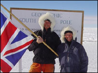 Conrad and Hilary Dickinson at the South Pole
