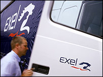 Man getting into Exel truck