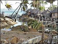 A Thai resort in Bang Tao, Phuket, levelled by the tsunami