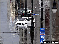 Flooding in Canal Street, New Orleans