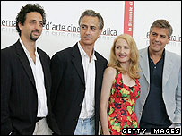 producer Grant Heslov, actors David Strathairn, Patricia Clarkson and George Clooney