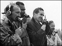 Edward Murrow (third from left)