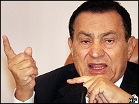 Incumbent President Hosni Mubarak