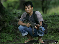 An Acehnese rebel fighter, Monday 17 Jan
