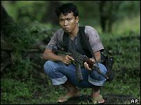 An Acehnese rebel fighter, Monday 17 Jan