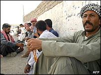 Unemployed men in Iraq