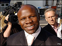 Eubank arriving at court