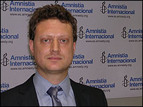 Marcelo Pollack, autor del informe de Amnist�a Internacional.
