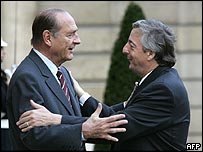 Jaqcues Chirac and Nestor Kirchner