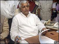 Bihar politician Laloo Prasad Yadav