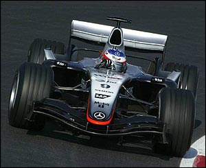 Kimi Raikkonen in the new McLaren MP4-20 at Barcelona's Circuit de Catalunya
