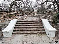 Remains of a house in Biloxi
