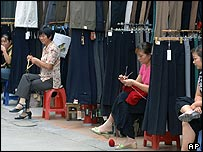 Chinese clothing market