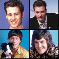 Former Blue Peter presenters Tim Vincent, John Leslie, Peter Purves and John Noakes