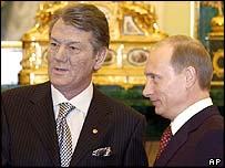 Viktor Yushchenko with Vladimir Putin