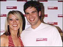 Gethin Jones with Footballers' Wives star Zoe Lucker