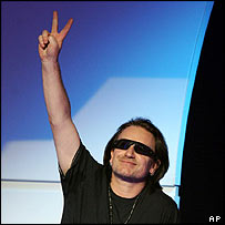 U2 musician Bono will campaign Davos for debt relief for poor countries