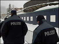 Policemen outside the conference centre © World Economic Forum