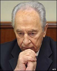 Israel Deputy Prime Minister Shimon Peres