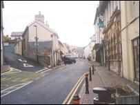 The telegraph poles have been chopped down near Llandysul