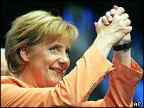 Christian Democrat (CDU) leader Angela Merkel