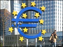 Euro sculpture in Frankfurt
