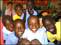 Sudanese children aged five and six at St Joachim's School l in Sydney