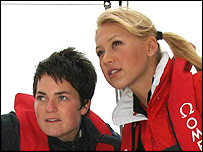 Ellen MacArthur (left) with Anna Kournikova