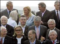 EU foreign ministers after their meeting in Newport on Friday