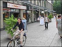 Shoppers in Jena, Thuringia