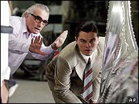 Martin Scorsese directs Leonardo DiCaprio in The Aviator