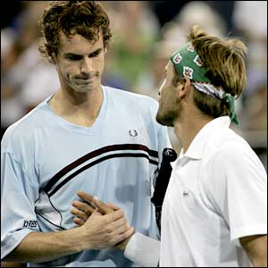 Andy Murray (left) and Arnaud Clement