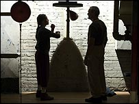 Hilary Swank and Clint Eastwood in Million Dollar Baby