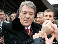 Viktor Yushchenko in Strasbourg