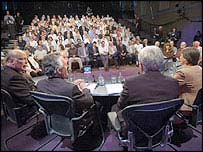 The Question Time audience and the panel 