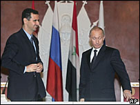 Bashar al-Assad (left) and Vladimir Putin
