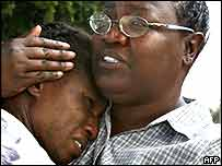 Survivors of hurricane Katrina are reunited