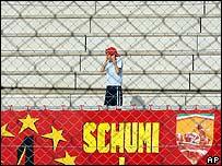 Aficionado de Ferrari en Monza